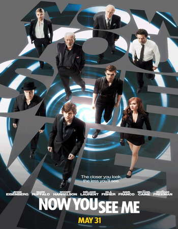 Poster Of Now You See Me 2013 Dual Audio 450MB BRRip 720p ESubs HEVC - Extended Free Download Watch Online Downloadhub.Net