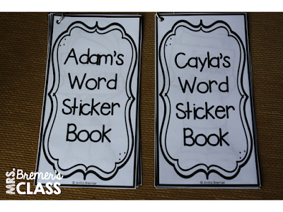 Editable Word Sticker Books including several editable cover options so that you can personalize them for your students! Type any words you wish on the word lists and add a sticker beside the words that are mastered. A great motivator!