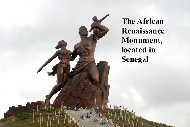 The African Renaissance Monument in Senegal. Made in North Korea. 160 feet in Bronze. Mutual Assured Lunacy, postscript and Other stories of Trump and Megalomaniacs. marchmatron.com