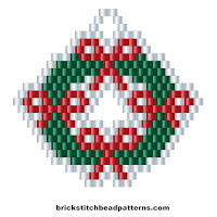 Free brick stitch seed bead weaving pattern