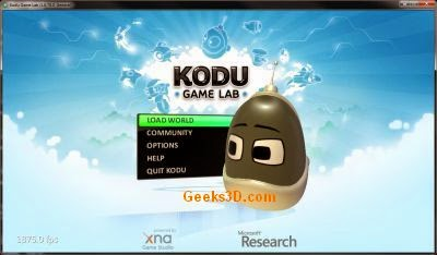 Kodu visual environment for programming games