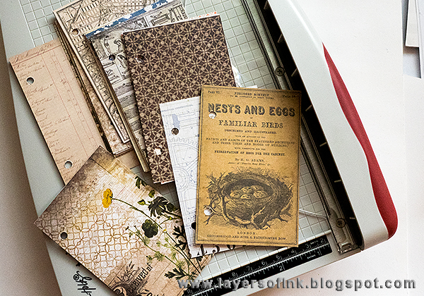 Layers of ink - Hidden Book Box Tutorial by Anna-Karin with Tim Holtz idea-ology vignette box.