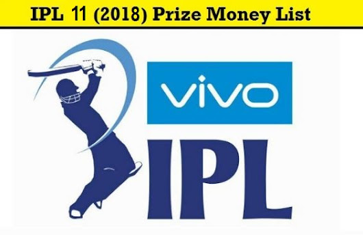 Vivo IPL 2018 Final Presentation Ceremony : IPL 11 Final Awards, Prize Money List