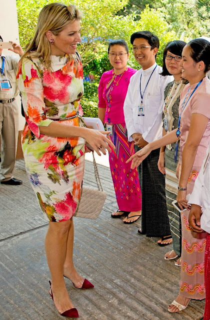 Queen Máxima of The Netherland visit Myanmar as the UN Secretary-General's Special Advocate for Inclusive Finance for Development
