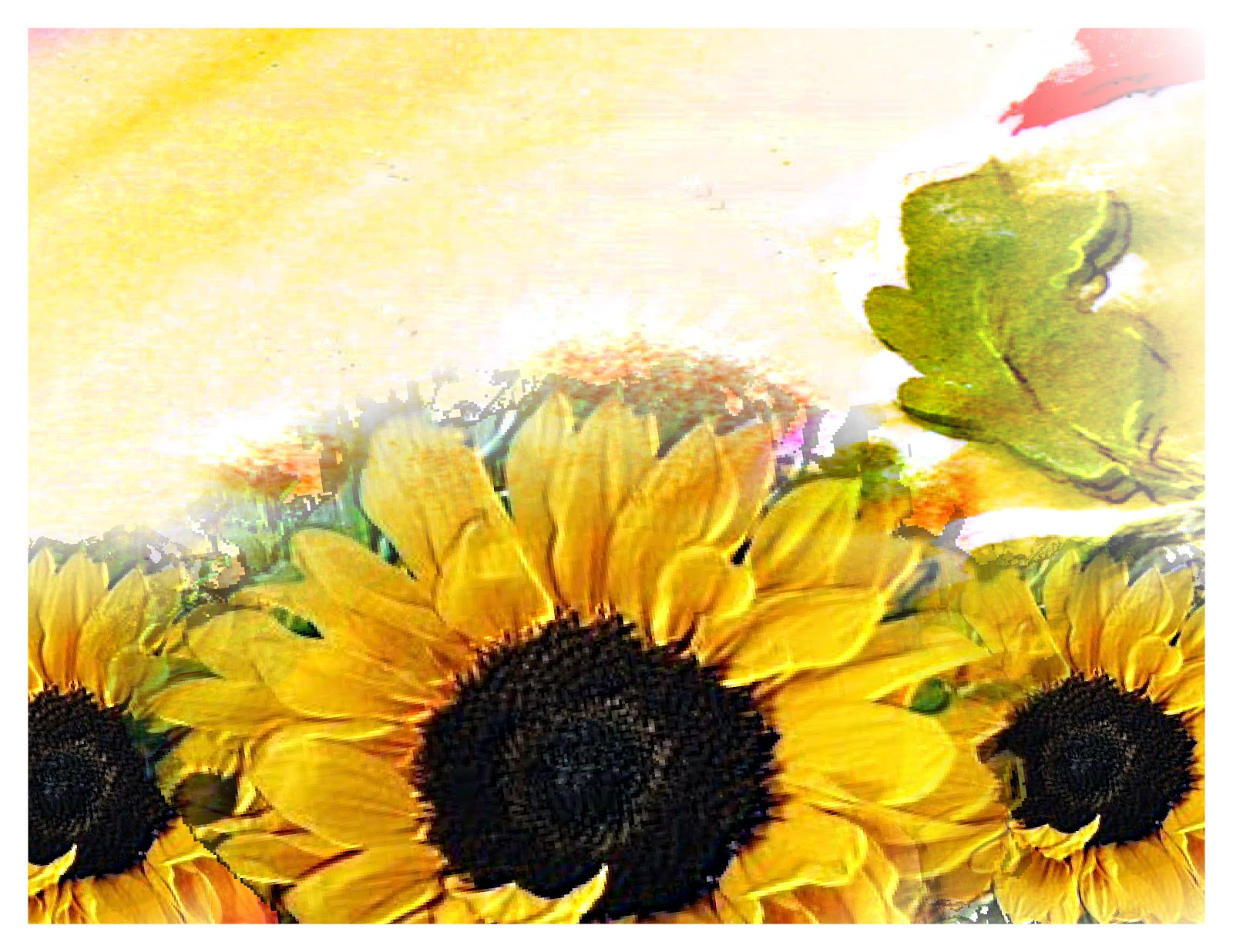 Sunflower Border Pictures to Pin on Pinterest - ThePinsta