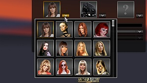 Beautiful woman driver icons