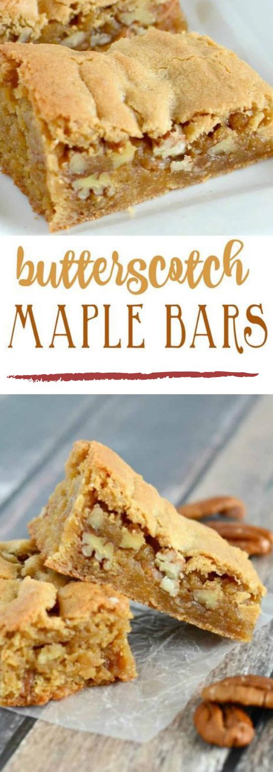 Butterscotch Bars #dessert #cake #bars