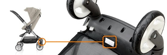 Stokke® Scoot serial number location