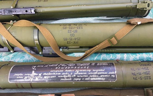 На Донеччині виявлено велику схованку зі зброєю та боєприпасами