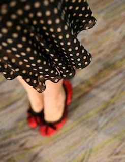 pot a dot skirt,vintage, fashion,