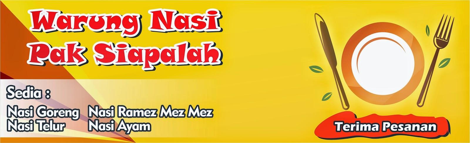 Template Banner Warung Makan Cdr - Contoh Banner