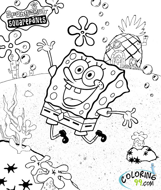 Spongebob Squarepants Coloring Pages Team Colors Inside Spongebob  Squarepants Coloring Pages