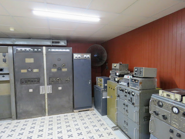 Vietnam War era communication equipment in the bunker at the Reunification Palace in Ho Chi Minh City