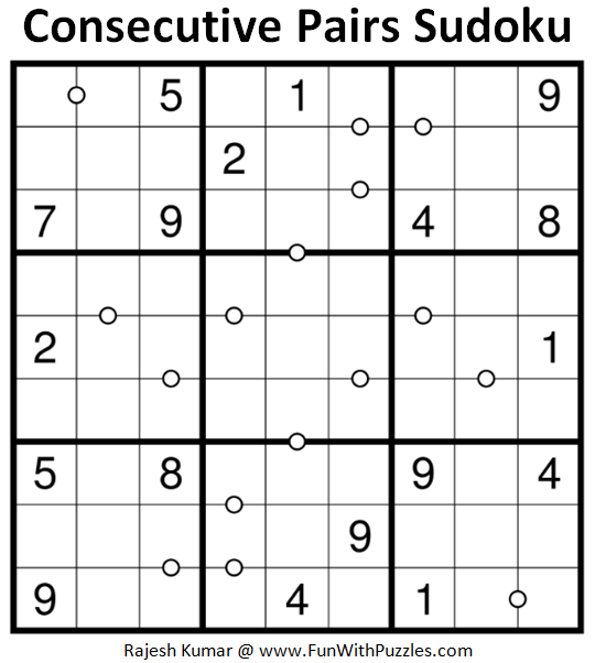 Consecutive Pairs Sudoku (Daily Sudoku League #178)