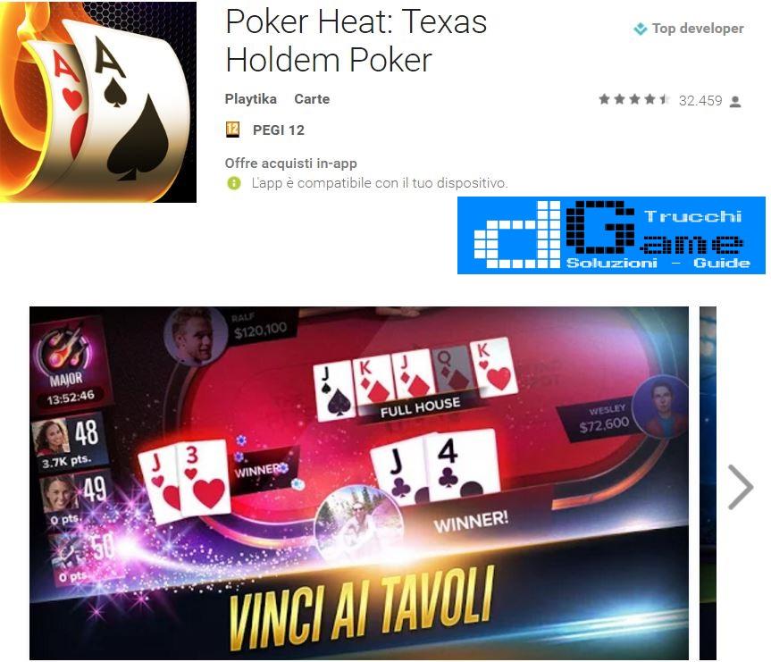 Trucchi Poker Heat: Texas Holdem Poker Mod Apk Android v4.0.3