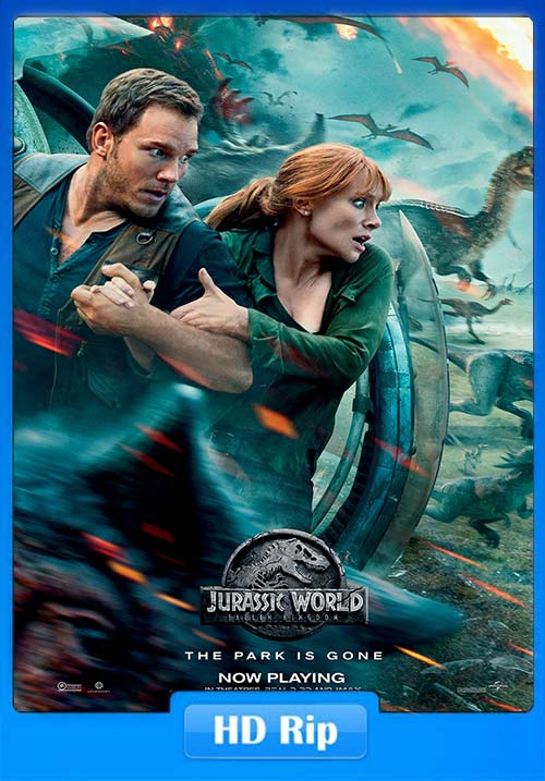 Jurassic World Fallen Kingdom 2018 720p BDRip Hindi Tamil Eng ESubs | 480p 300MB | 100MB HEVC