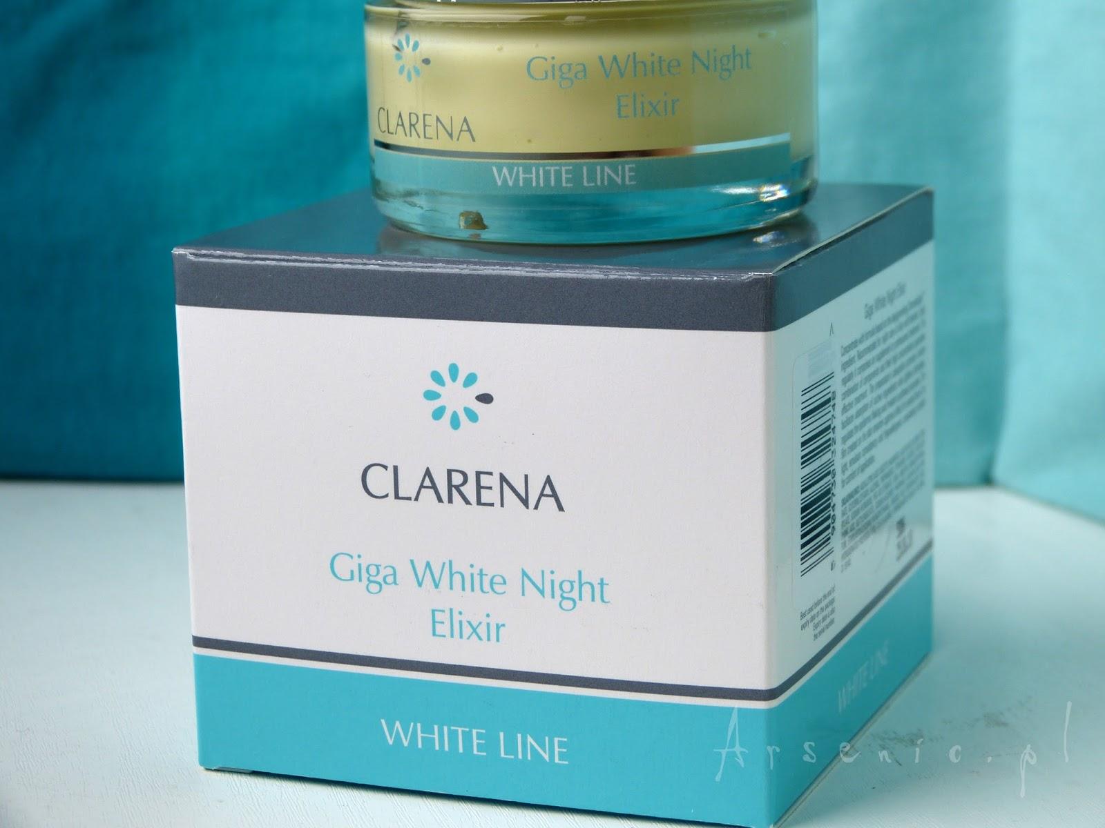 Kolejny krem wybielający: Clarena Giga White Night Elixir