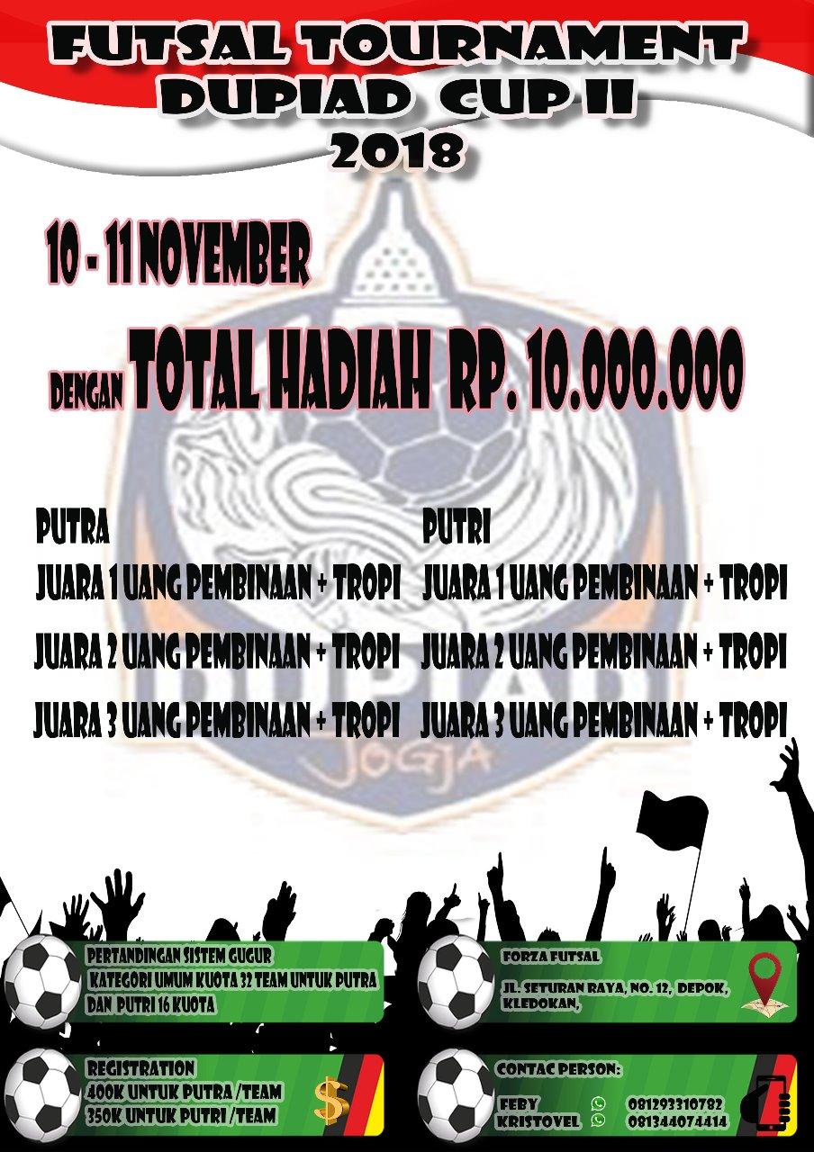 turnamen Futsal Dupiad Cup II