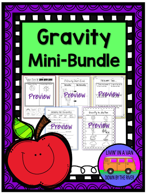 GRAVITY BUNDLE, TPT, SCIENCE ACTIVITIES, GRAVITY WORKSHEETS