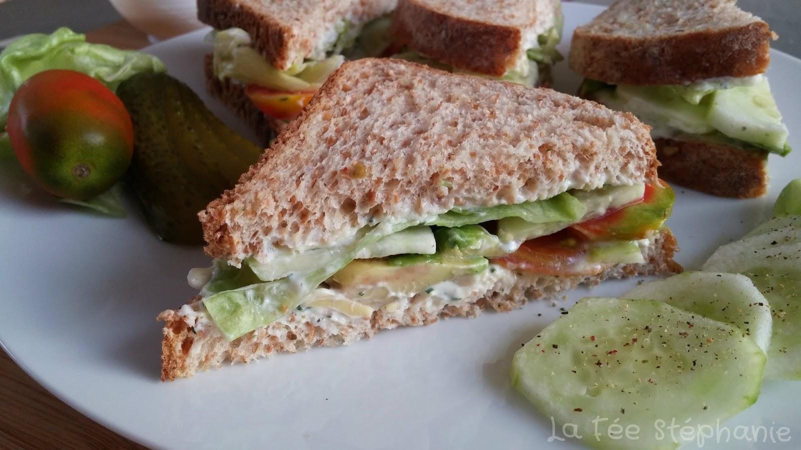 Que met un végétalien dans son sandwich?