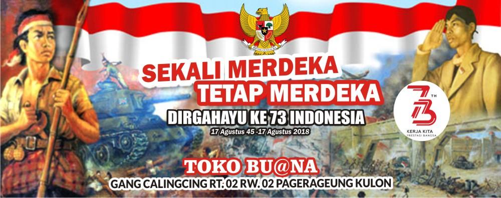 Download Spanduk Dirgahayu RI Ke-73.cdr - KARYAKU