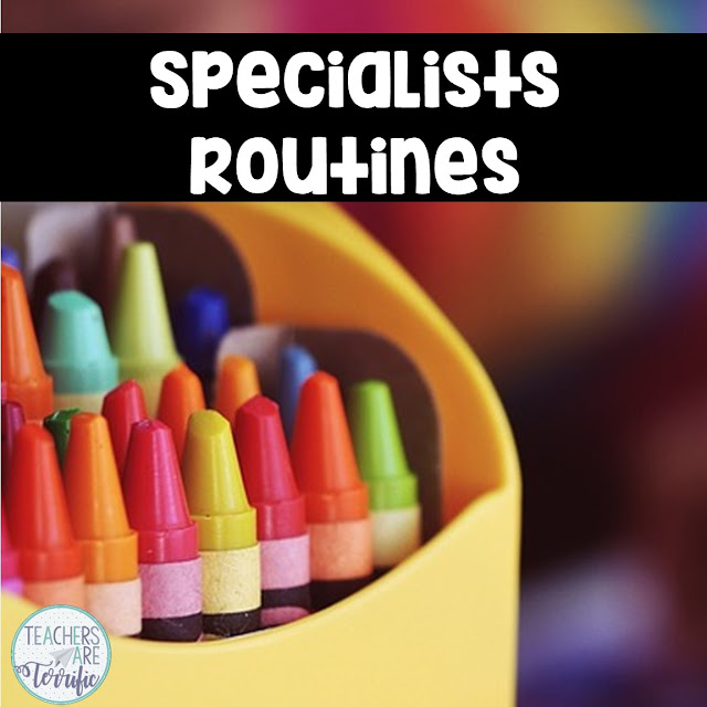 Even specialists have routines and procedures to teach in the first weeks of school. Check this blog post for some tips.