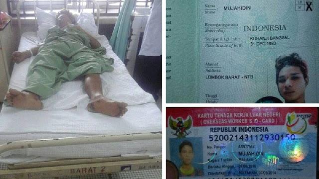 Terjatuh Dari Lantai 4, TKI Undocument Malaysia Ini Mengalami Patah Tulang dan Harus Pulang
