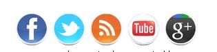 Iconos de redes sociales para blogger
