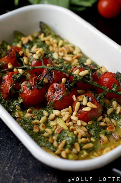 Bärlauch, Tomaten, Spargel, Spargelzeit, lecker, kochen, Frühling