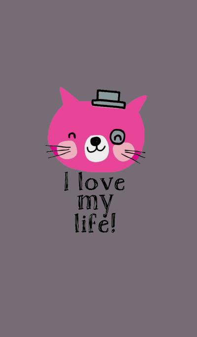 Pink Cat, i love my life.