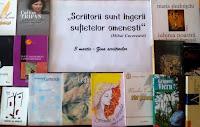 """Expoziţia ,,Scriitorii sunt îngerii sufletelor omenești"""" (Mihai Cucereavii)"""