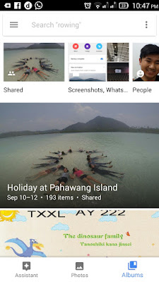 google photo albums menu
