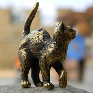 купить фигурку бронзовую кот кошка латунь глюкоморье крым подарок