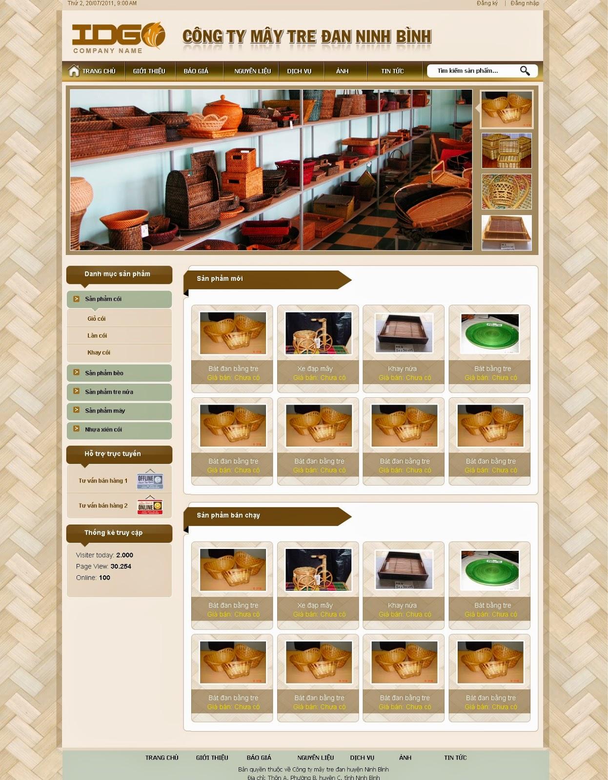 thiết kế website bán hàng thủ công mỹ nghệ chuyên nghiệp