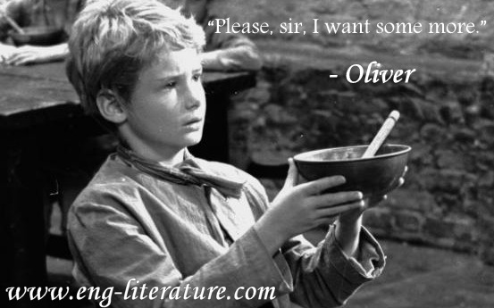 "Give the Character Sketch of Oliver in Dickens' Novel ""Oliver Twist"""