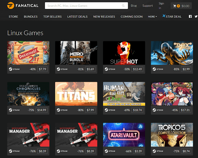 Fanatical Linux Games