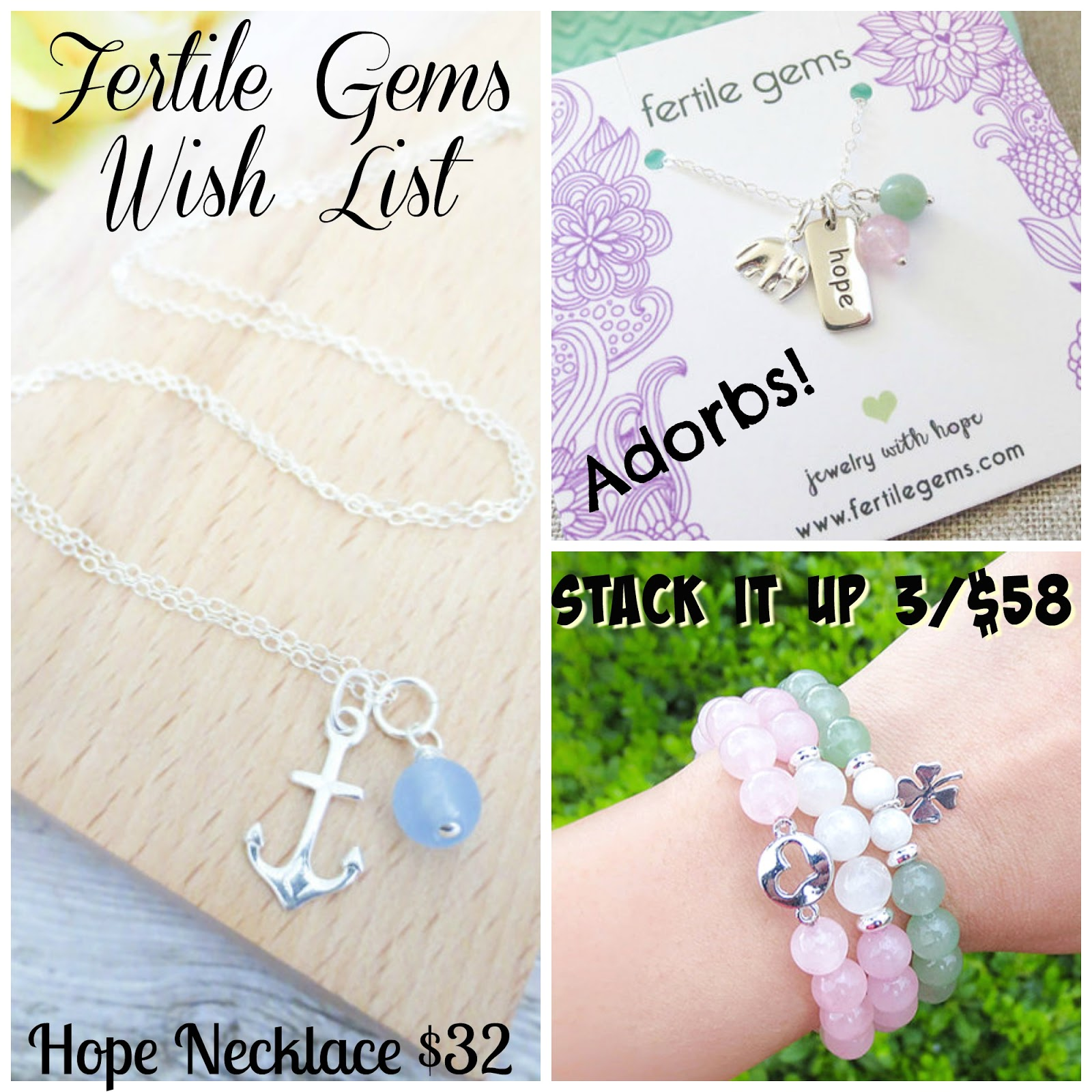 Infertility goodies and where to find them i love to stack arm candy and these three bracelets can be purchased separately or together for a discounted price greeting cards kristyandbryce Image collections