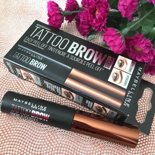 maybelline tattoo brow kaş dövmesi medium brown incelemesi
