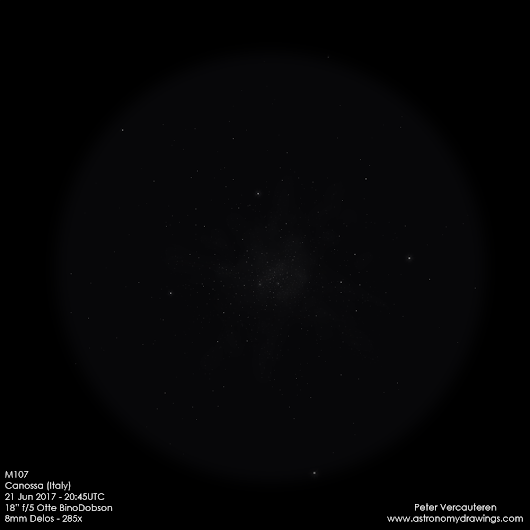 M107: A globular with some dark patches