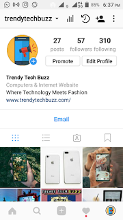 Trendy tech buzz instagram