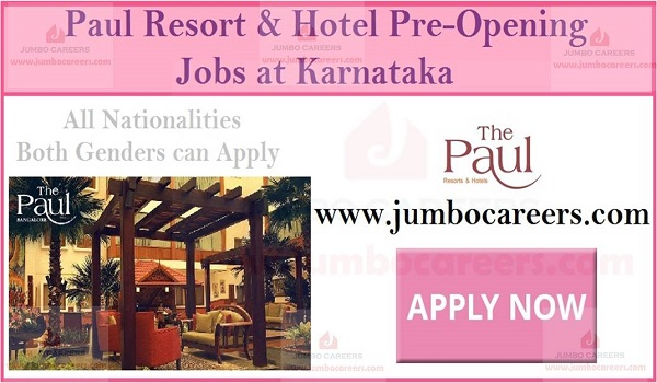 5 star hotel jobs in Karnataka, Hospitality jobs in Karnataka,