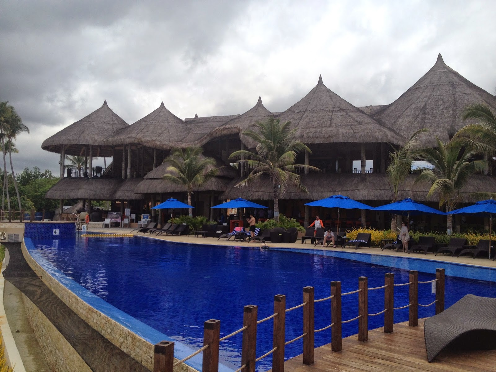 swimming pool at Bellevue Resort and Hotel in Panglao, Bohol, Philippines.