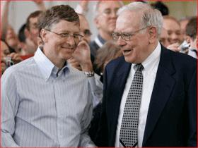 Bill Gates and Warren Buffet Giving pledge foundation