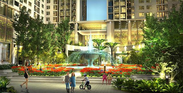 Quảng trường trung tâm Eco Green City.