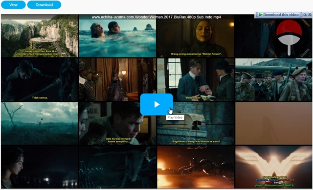 Screenshots Film Wonder Woman (2017) BluRay 480p Subtitle Indonesia MP4 Openload IndoShares Uptobox