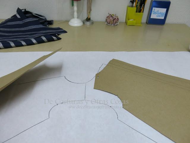 plantillas de patrón vestido trapecio