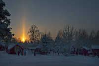 A Sun Pillar over Sweden