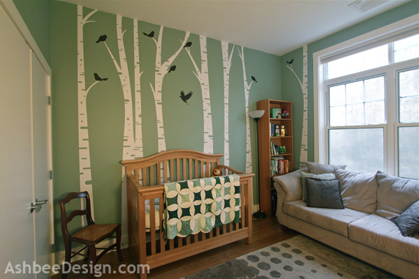 Karen Especially Liked The Birch Tree Decals And Knew From Conception That Nursery Was Going To Incorporate Them