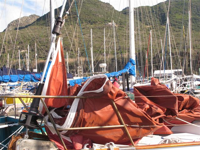 CKD Boats - Roy Mc Bride: Tan dacron head sails for sale