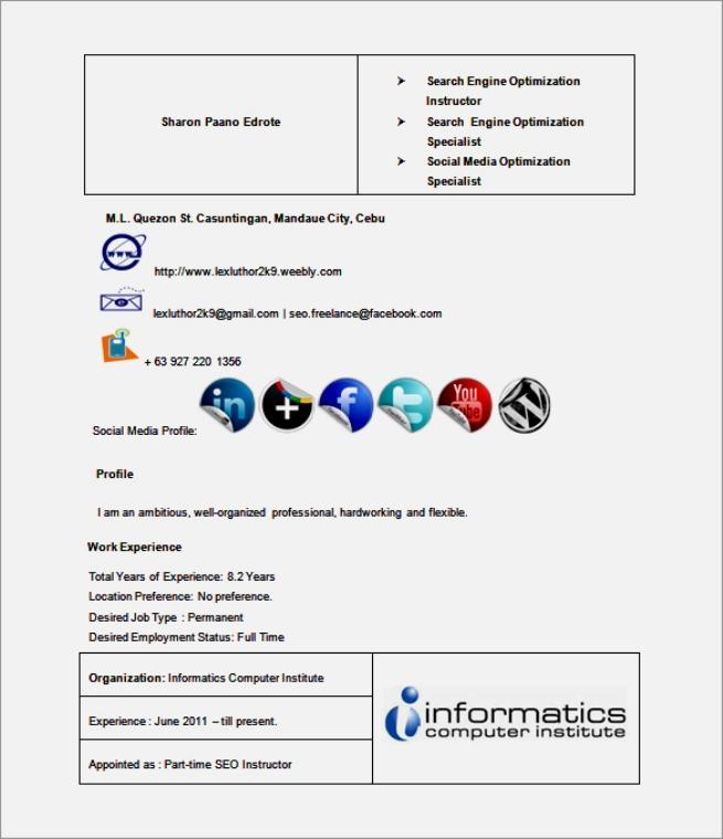 seo executive resume template best resume template